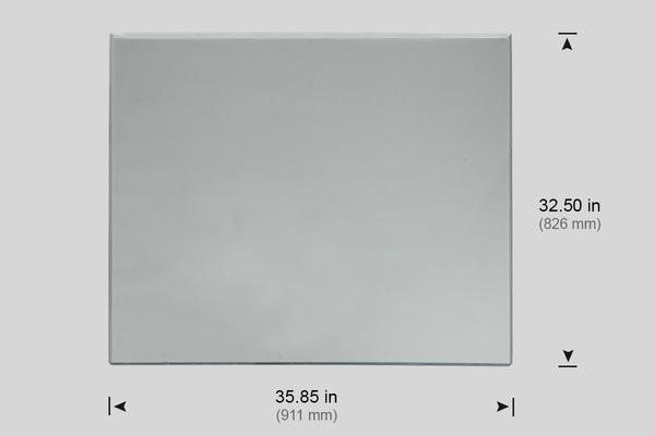 "WINDOW, FRONT POLYCARBONATE 35.85"" X 32.5"" (VF-6, VF-8)"