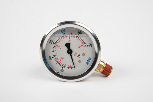 GAUGE, HYDRAULIC, 0-600 PSI 1/4-M NPT