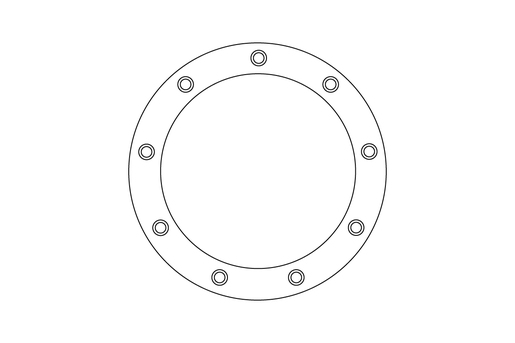 ADAPTER,  CHIP CHUTE SQUARE TO ROUND FLANGE