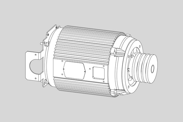 SPINDLE MOTOR, 10HP BALDOR WITH TERMINAL BLOCK