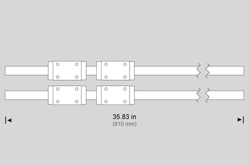 LINEAR GUIDE, 30MM X 910MM (PAIR) W/ COVER STRIP (X) TL-3 (SUB-SPINLDE) ST-10, ST-15
