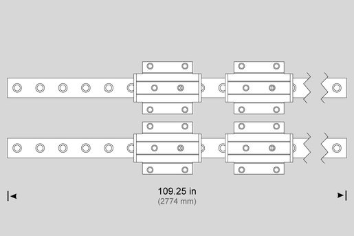 LINEAR GUIDE, 45MM X 2775MM (PAIR) (Y) VS-3 (Z) HS-3